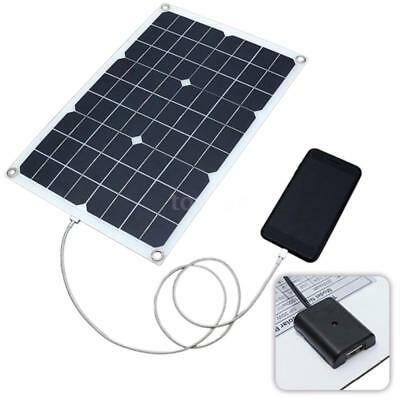 Panel 2 (Solarmodul 20W Solarpanel Monokristallin Solarzelle mit Kable Krokodilklemm Z2K2)