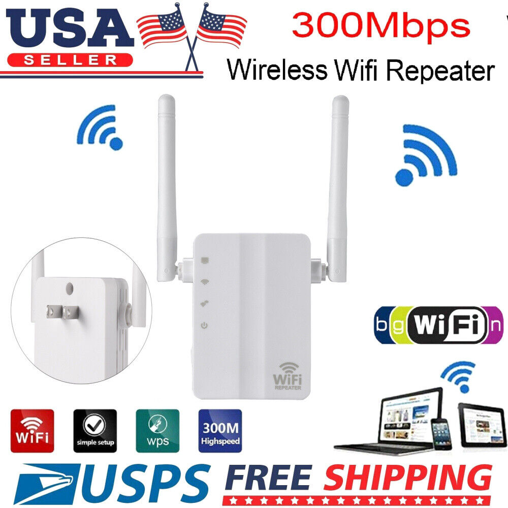 300Mbps WiFi Signal Range Booster Network Extender Amplifier