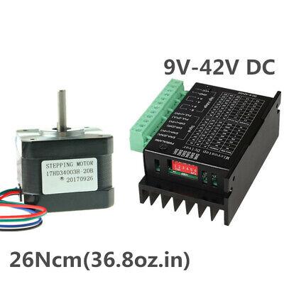 Nema 17 Stepper Motor 37oz.in 12v 0.4a Driver Tb6600 Set For Cnc