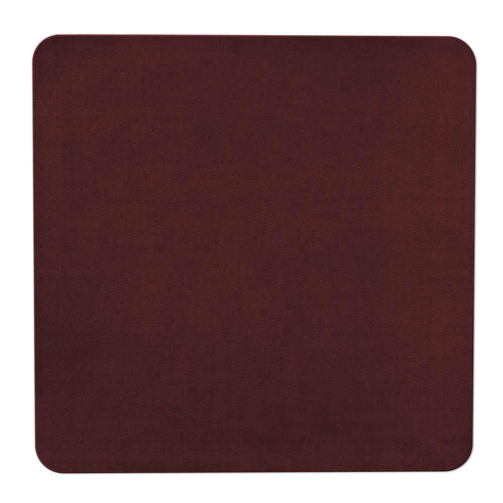 Skid-Resistant Area Rug/Floor Mat - Burgundy Red - 6 Ft. x 6
