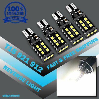 4 x Bright White Canbus LED Bulb For Car Backup Reverse Light 912 921 T15 W16W