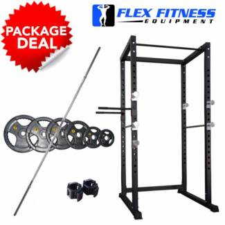 NEW CAGE & 90KG BAR & WEIGHT PACK, INC DIP HANDLES & COLLARS Malaga Swan Area Preview