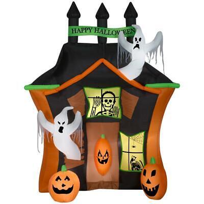 Halloween Gemmy 9 ft Haunted Ghost House Scene Airblown Inflatable NIB