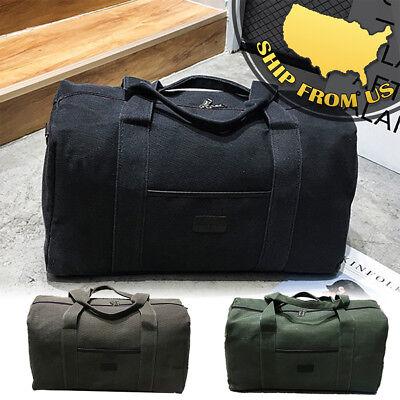 New Men's Military Canvas Duffle Luggage Travel Bags Shoulder Bags Gym Handbags (Canvas Duffle)