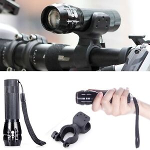 1000 lumen CREE XML T6 LED Cycling Bike Bicycle LED Flashlight Torch with Mount