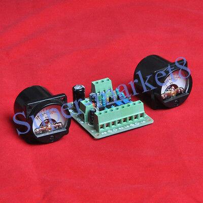 2pcs Vu Panel Meter Warm Back Light With Vu Driver Pcb Board Stereo Audio Amp