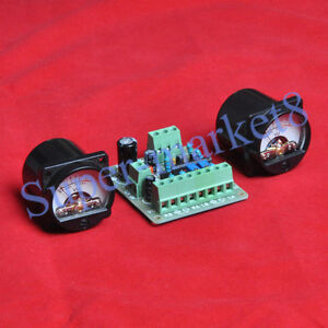2pcs-VU-Panel-Meter-Warm-Back-Light-VU-Driver-PCB-Board-Stereo-f-Audio-Amp-New