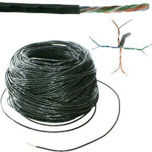 25m-CAT5e-Ethernet-rete-LAN-UTP-RJ45-Cavo-Bobina-Tamburo-rame-Esterno-esterno
