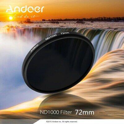 Andoer 72mm 10-stop Ultra Slim Variable Neutral Density ND1000 N D Filter Z7X4