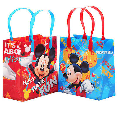 Small Reusable Bags (Mickey Mouse Authentic Licensed Reusable Small Party Favor Goodie 12 Bags)