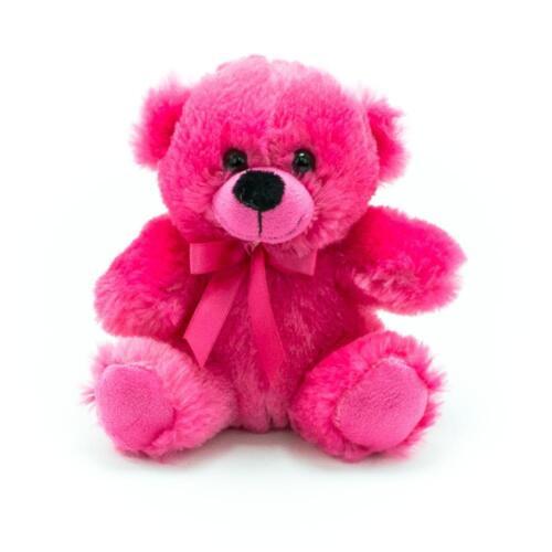 "6"" Hot Pink Plush Teddy Bear Stuffed Animal Toy Gift New"