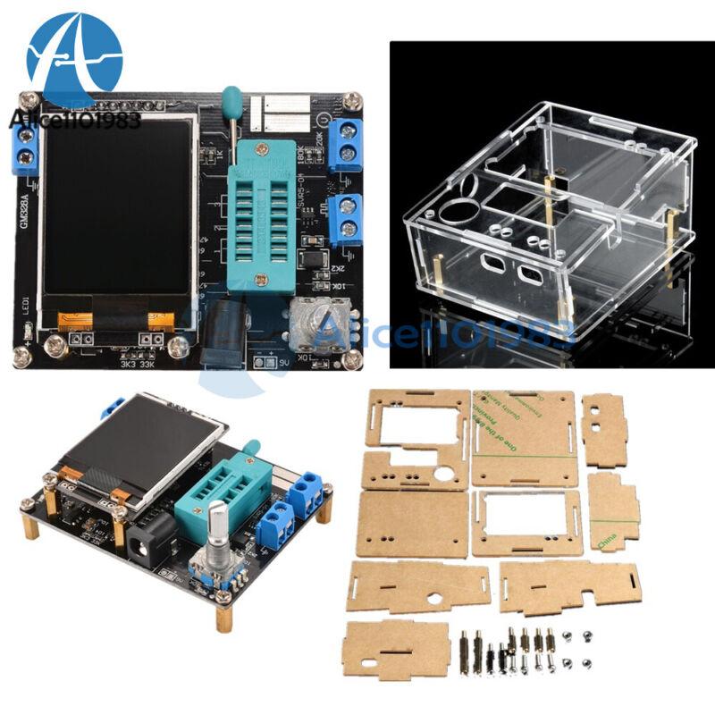 English GM328 TFT Assembled Transistor Tester LCR Meter Acrylic Case DIY Kit