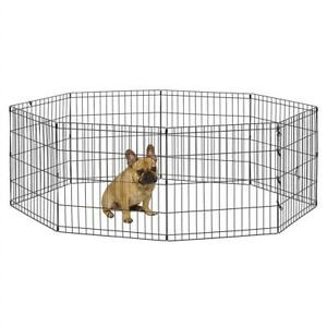 NEW World Pet Products B550-24 Foldable Exercise Pet Playpen, Black, Small/24 x 24 Condtion: New