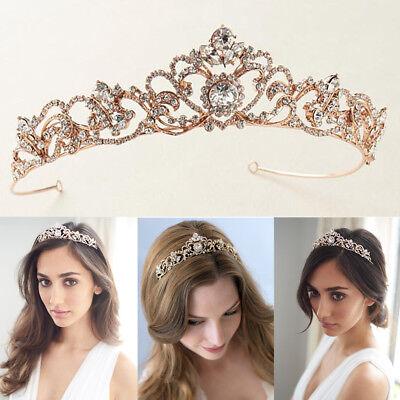 Wedding Princess Tiara Bridal Crown Prom Headpiece Silver/Gold/Rose Gold