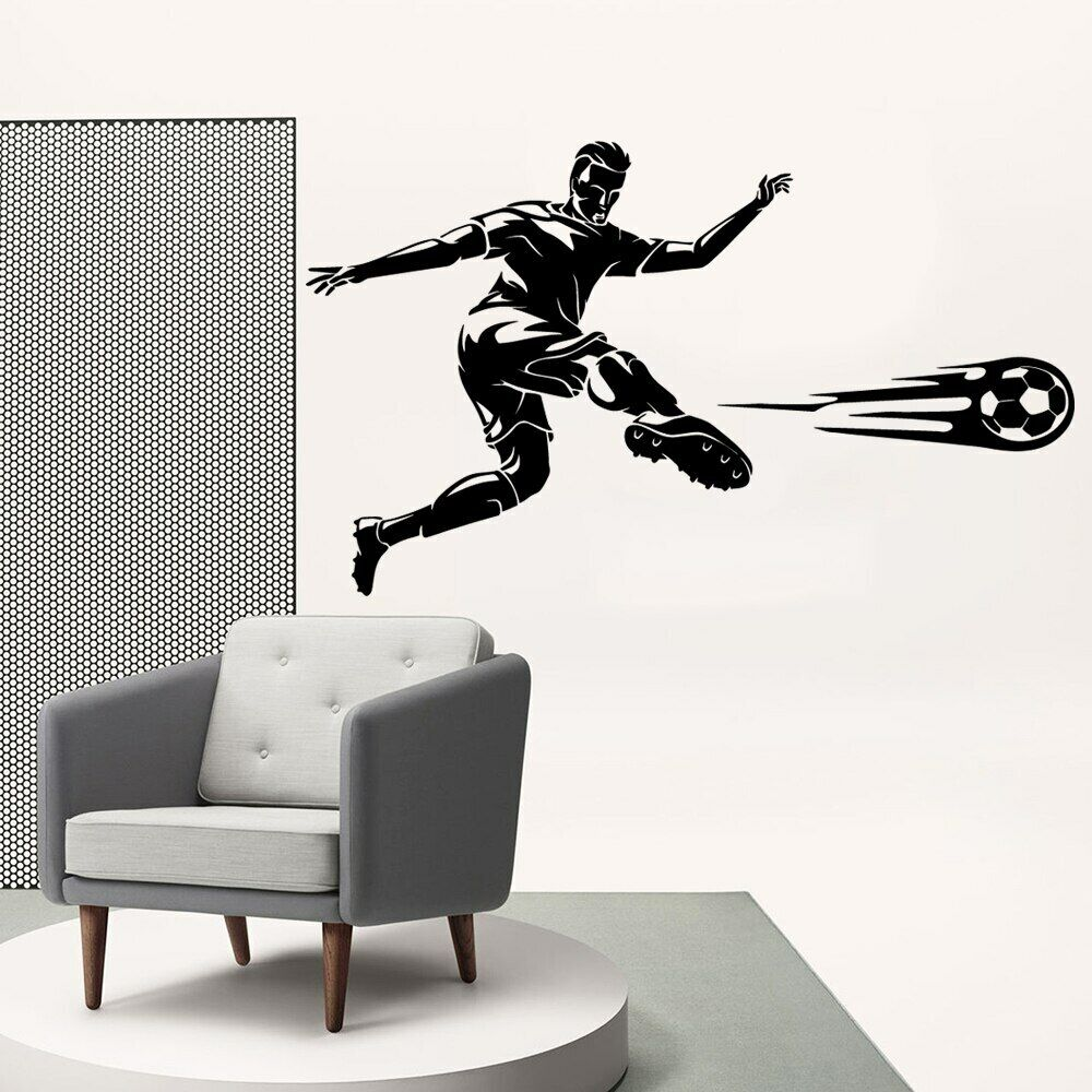 Home Decoration - Luxuriant Play soccer Wall Sticker Home Decoration Accessories Creative Stickers