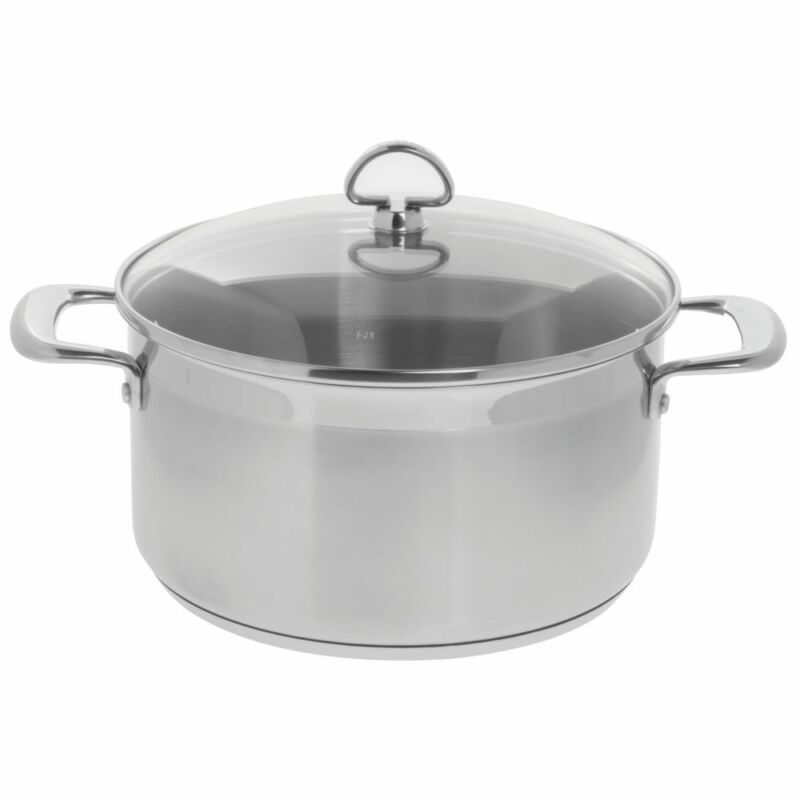 Chantal Induction Casserole with Glass Tempered Lid 21 Steel (6-Quart)