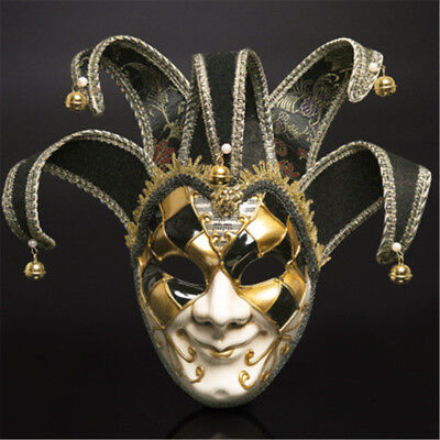 Venice Joker Full Face Mask Halloween Masquerade Balls Cosplay Party Clown - Halloween Jokers Masquerade