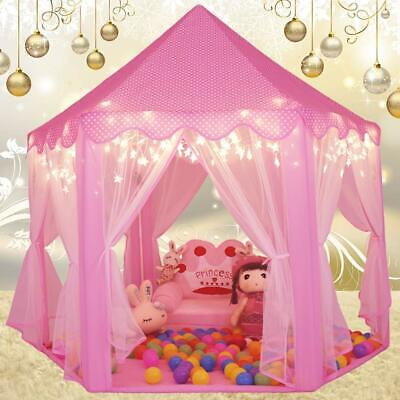 Princess Castle Play House, Large Indoor/Outdoor Kids Play Tent for Girls Pink ! (Children Tents)