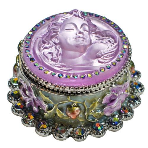 Kirks Folly Goddess Dream Angel Trinket Box silvertone