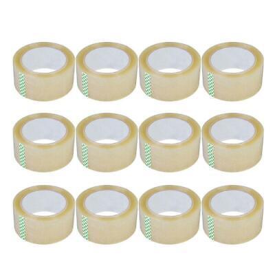 12 Rolls Carton Sealing Packing Packaging Tape 2.7 Mil 60 Yards 180 Ft