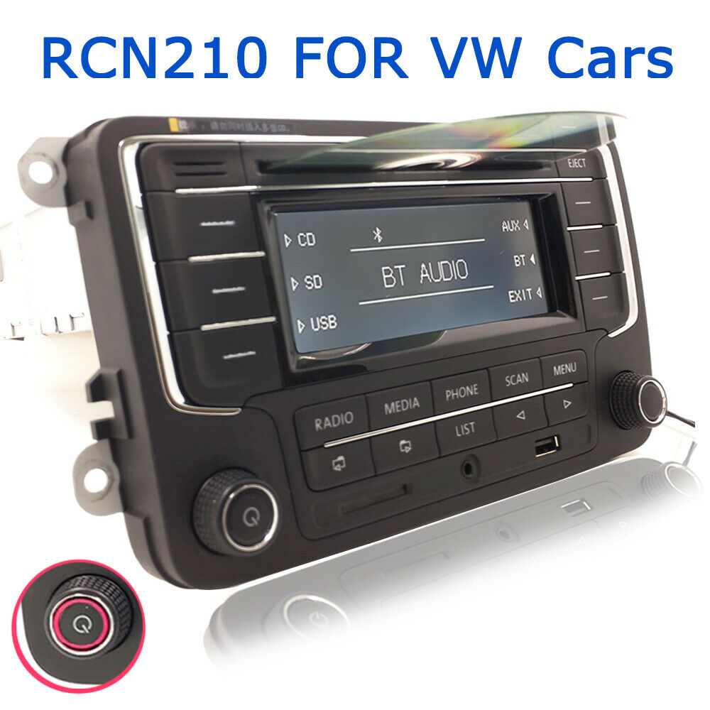 Details about VW Car Stereo Radio RCN210 GOLF TIGUAN PASSAT CADDY POLO GTI  CD USB SD Bluetooth