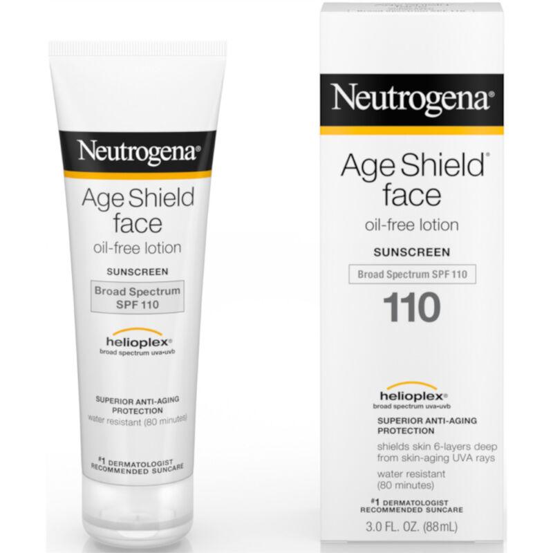 Neutrogena Age Shield Face Sunscreen, Oil Free Lotion Sunscreen, SPF 110 3.0 OZ