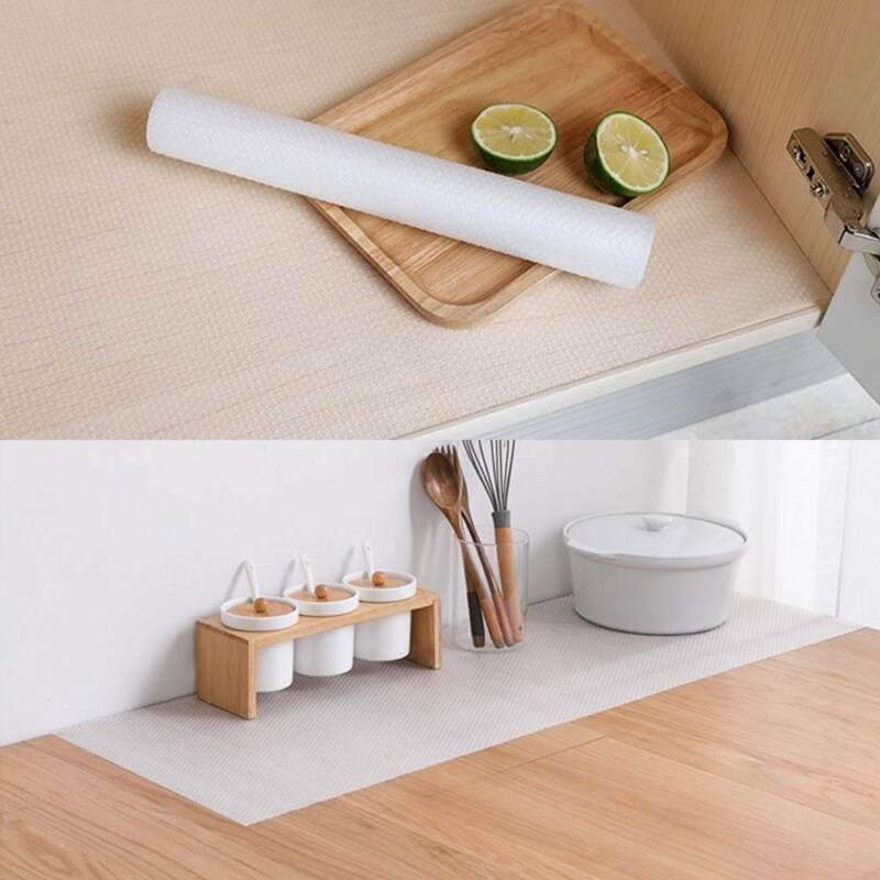 Non Slip Drawer Mat Shelf Liner Cabinet Storage Pad Rubber ...