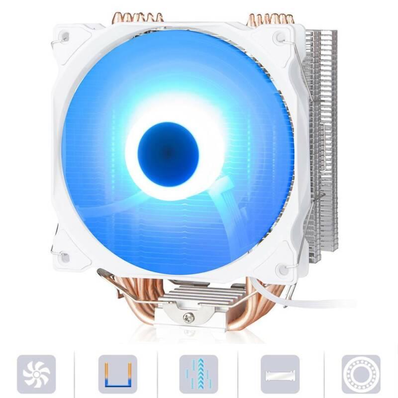 4Pin 12V Cooling 6 Cooler Heatsink PC Processor Radiator