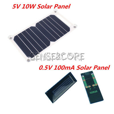 Portable Solar Power Panel (10W 5V Portable Solar Power Charging Panel USB Charger For Samsung IPhone Tablet)