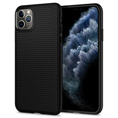 iPhone 11, 11 Pro, 11 Pro Max Case | Spigen® [Liquid Air] Matte Black Cover
