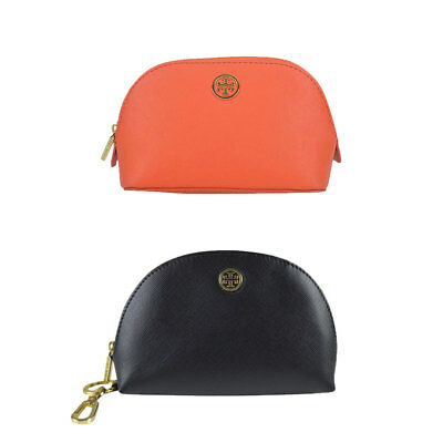 Robinson Dome (NWT Tory Burch Robinson Dome Leather Small Makeup Bag Pouch)