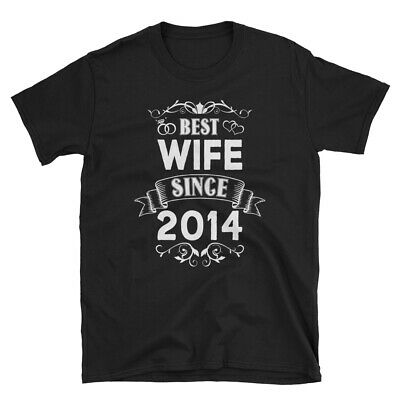 Best Wife Since 2014 100% Cotton T-Shirt, Wedding 5th Anniversary Gift for (Best Anniversary Gifts For Her)
