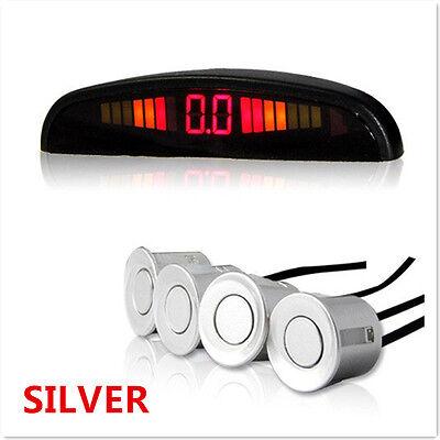 SILVER Reverse 4 Sensors Kit Reversing Parking Radar Sound Alert Alarm System