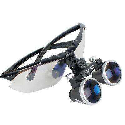 Dental Hygienist Surgical Medical Binocular Loupes 2.5x 420mm Magnifier Updated