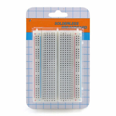 Mini Universal Solderless Breadboard 400 Contacts Tie-points Available B2ae