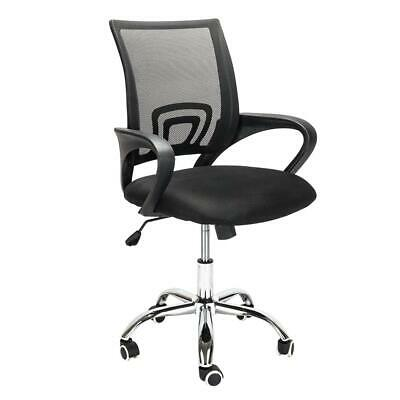 Ergonomic Office Stools 360swivel Computer Chair Black Mid-back Mesh