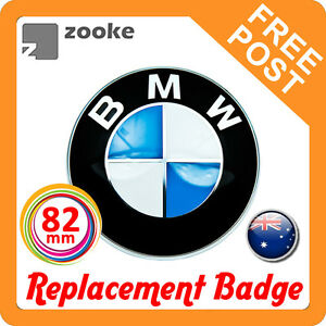 82mm Replacement BMW Badge Emblem Logo Boot Bonnet Trunk Hood E39 E46 E60 E38