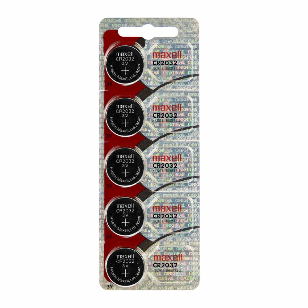 Maxell CR2032 CR 2032 3V Lithium Batteries 5 batteries