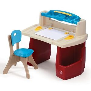 Step2 Deluxe Art Master Desk Toddler Chair Drawing Kids