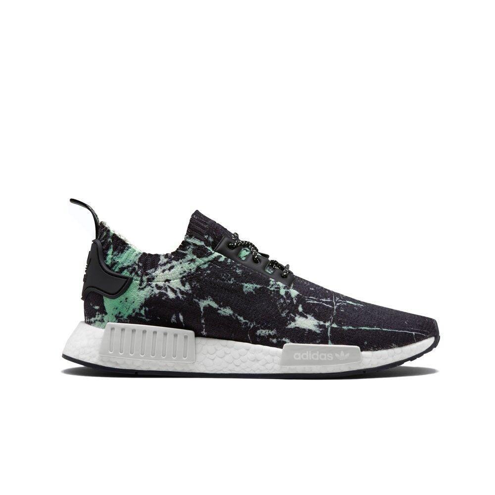 "Adidas NMD_R1 Primeknit ""Green Marble"" (Core Black/White) Men's Shoes BB7996"