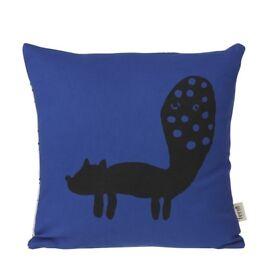 Ferm Living Fox Cushion - Blue - Kids Cushions In UK