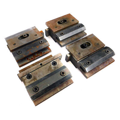 Lot Of 4 Amada 10 Press Brake Tooling Punch Die Holders W Single Clamp Plate