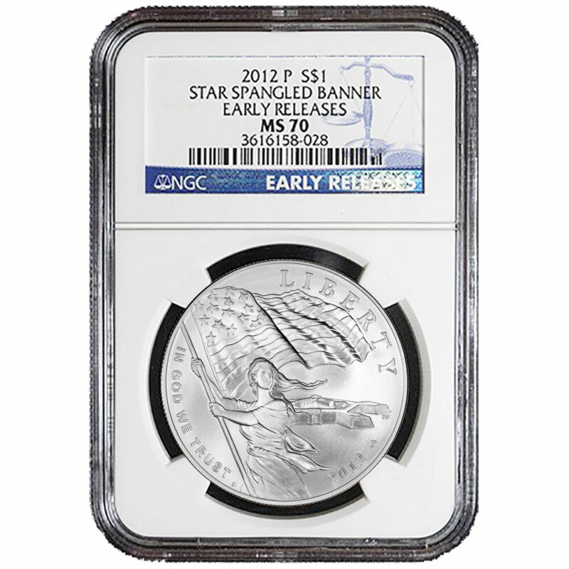 2012-P $1 Star-Spangled Banner Silver Dollar NGC MS70 Early Releases