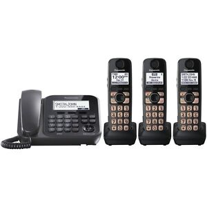 Panasonic KX-TG4773B DECT 6.0 PLUS Corded Cordless Digital Phone System