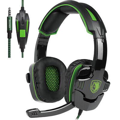 SADES SA930 Pro Stereo Gaming Kopfhörer Headset MIC für PC PS3 PS4 Xbox One