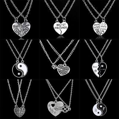 Best Friend Gifts Heart Chain Women Men Friendship Jewelry Pendant
