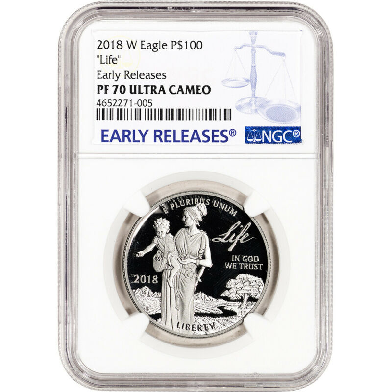 2018-W American Platinum Eagle Proof (1 oz) $100 - NGC PF70 UCAM Early Releases