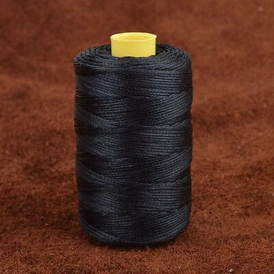 100m/109yrd 1mm Flat Black Sewing Waxed Thread For Leather Craft Upholstery US