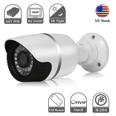 Hjt Poe 1080P Ip Camera Network Onvif P2p H 264 Outdoor Security Ir Night Vision