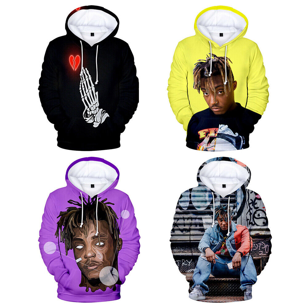 Hip Hop Hoodie Rapper Juice Wrld Sport Sweater Casual Sweatshirt Pullover Jacket Activewear